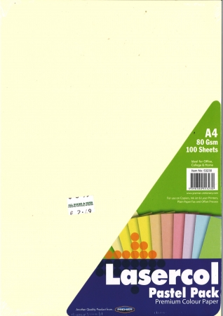 Pastel Rainbow Coloured Paper A4 Pack 100 - 80gsm