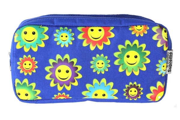 Pencil Case Double Pocket - 2 Zip - Sunflowers