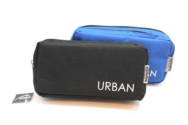Pencil Case Double Pocket - 2 Zip - Urban - Assorted Colours