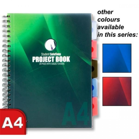 Project Book With 5 Dividers