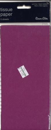 Tissue Paper 5 Sheets - Purple