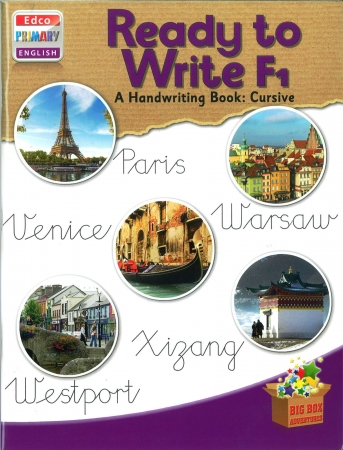 Ready To Write F1 - A Handwriting Book: Cursive - Big Box Adventures - Fourth Class