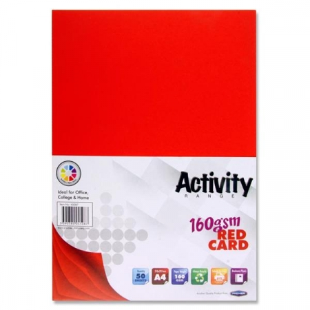 Red Card A4 50 Pack 160gsm