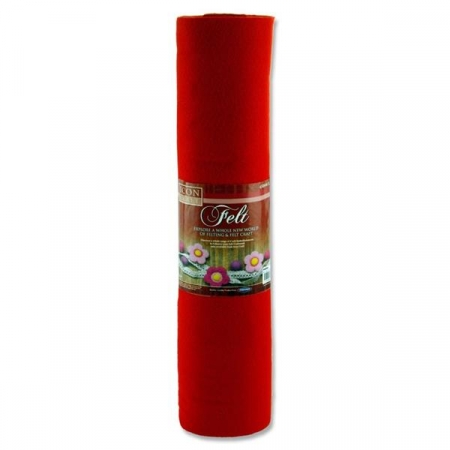 Felt Roll 45cm X 5m - Red