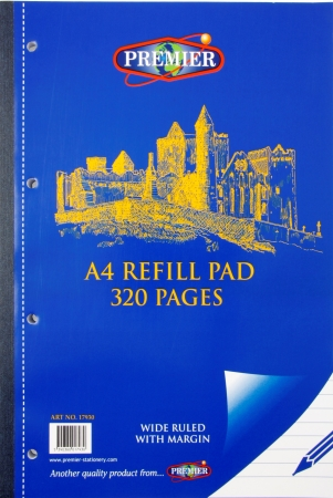 Refill Pad 320 Page A4 Side Bound