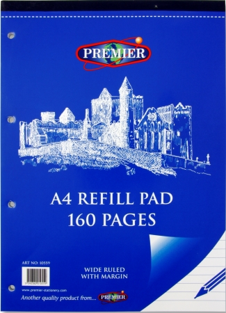 Refill Pad 160 Page A4 Top Bound
