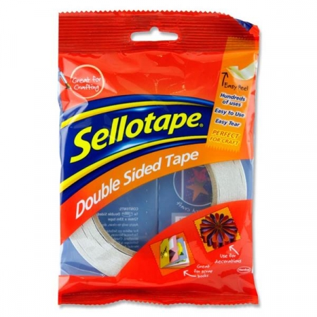 Sellotape Double sided tape 12mmx33m