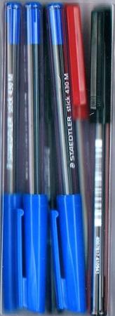 Staedtler Stick Pen - 6 Pack - Assorted Colours