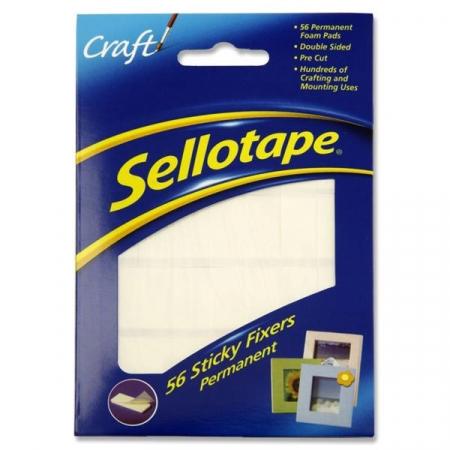 Sellotape Sticky Fixers Permanent 56's