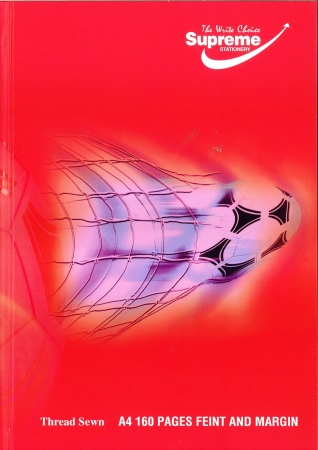 Hardback Copy A4 160 Page - Feint Ruled - Football - Assorted Colours