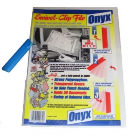 Onyx Swivel Clip File