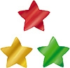 Stickers Colourful Foil Stars
