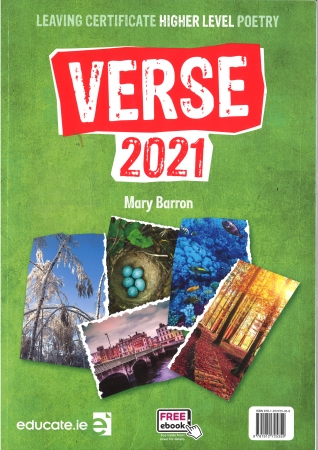 Verse 2021 Pack - Textbook & Poetry Skills Portfolio - Higher Level Leaving Certificate English - Includes Free eBook
