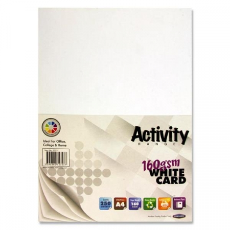 White Card A4 250 Pack - 160gsm