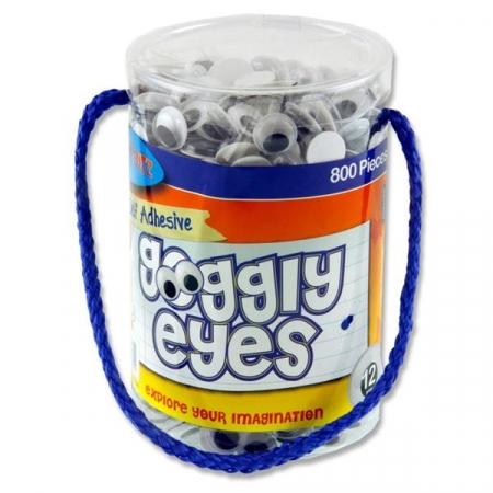 Wiggly Eyes 800 Tub 12mm