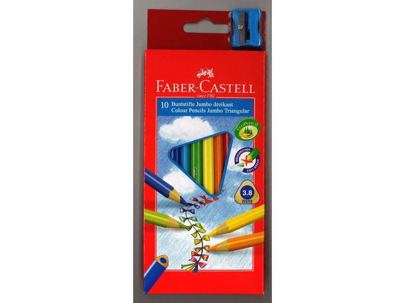 Faber-Castell Junior Grip Colouring Pencils 10 Pack