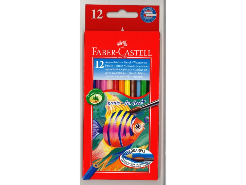 Faber-Castell Watercolour Pencils 12 Pack