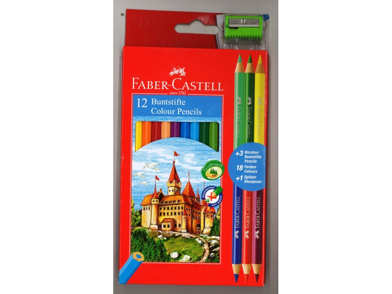 Faber-Castell Colouring Pencils 12 Pack