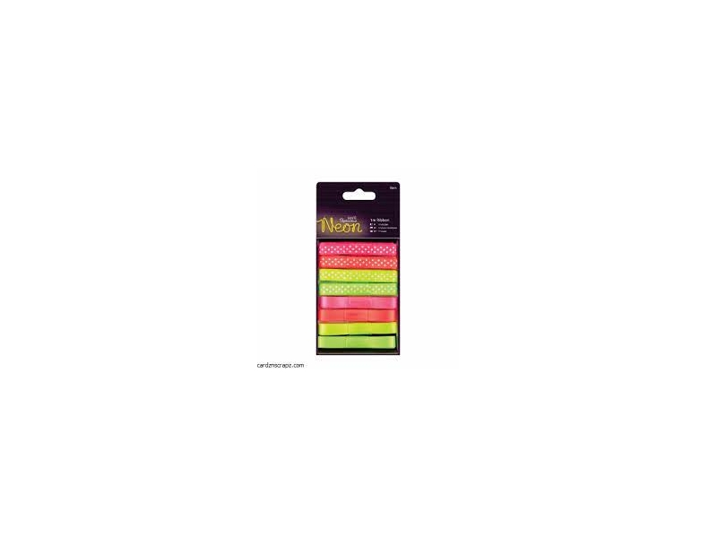 Papermania - 1m Ribbon Neon 8pk