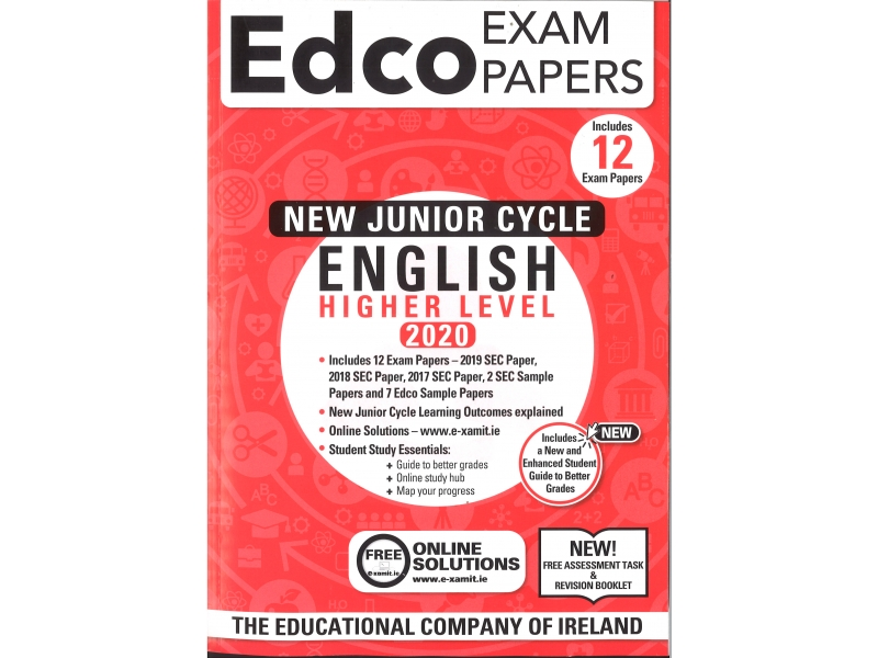 Junior Cycle English Higher Level - Includes 2020 Exam Papers