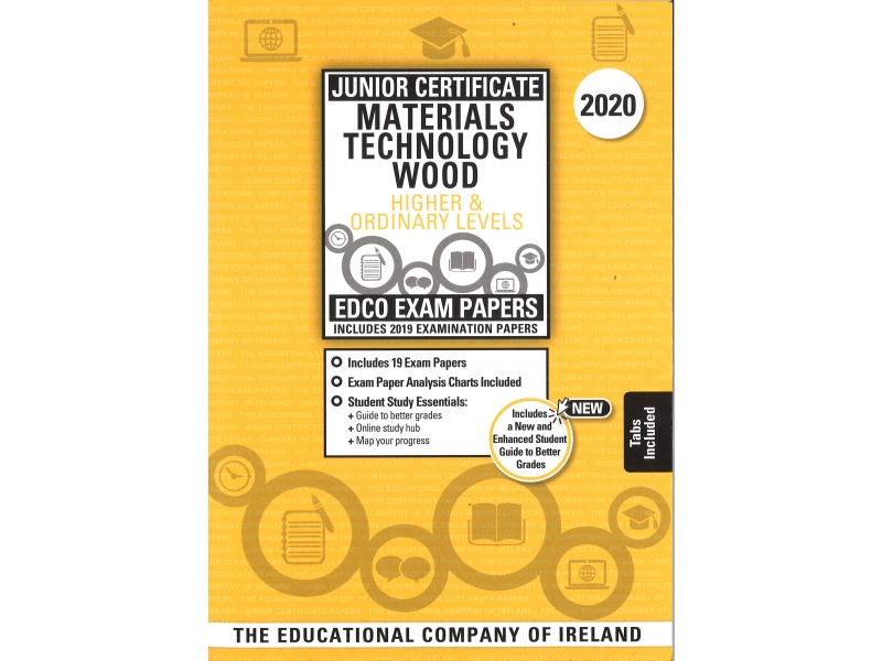 Junior Cert Materials Technology Wood Higher & Ordinary Level - Includes 2020 Exam Papers