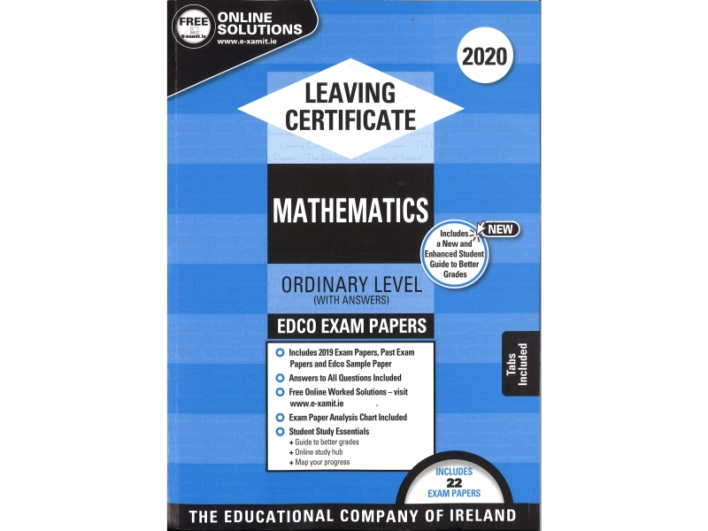 Leaving Cert Maths Ordinary Level - Includes 2020 Exam Papers