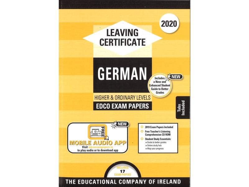 Leaving Cert German Higher & Ordinary Levels - Includes 2020 Exam Papers
