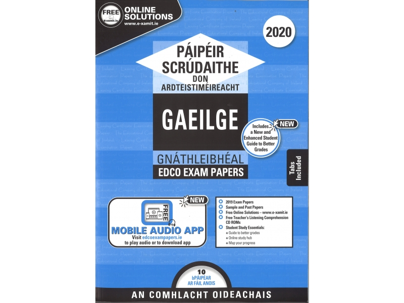 Leaving Cert Gaeilge Ordinary Level - Includes 2020 Exam Papers