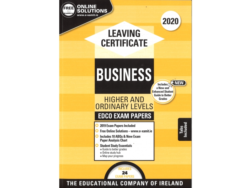 Leaving Cert Business Higher & Ordinary Levels - Includes 2020 Exam Papers