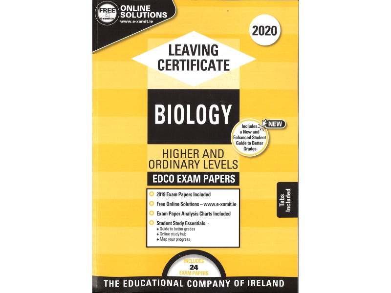 Leaving Cert Biology Higher & Ordinary Levels - Includes 2020 Exam Papers