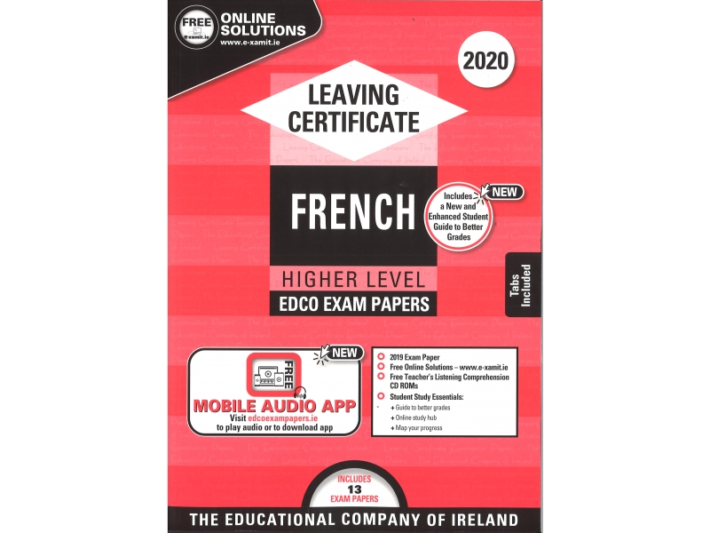 Leaving Cert French Higher Level - Includes 2020 Exam Papers