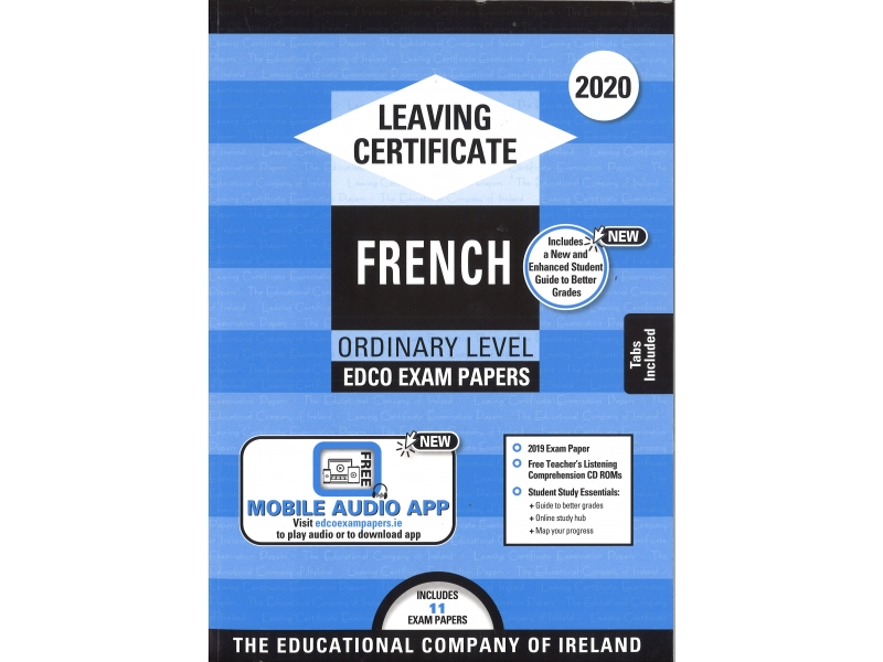 Leaving Cert French Ordinary Level - Includes 2020 Exam Papers