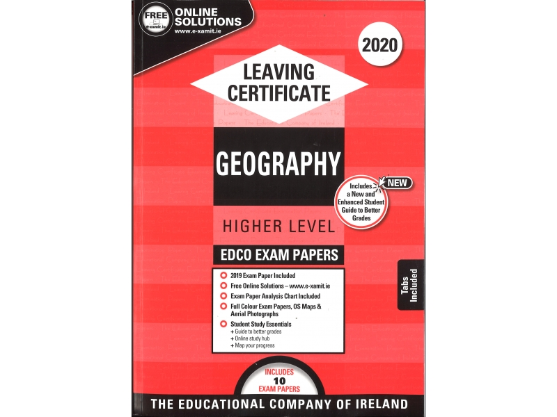 Leaving Cert Geography Higher Level - Includes 2020 Exam Papers