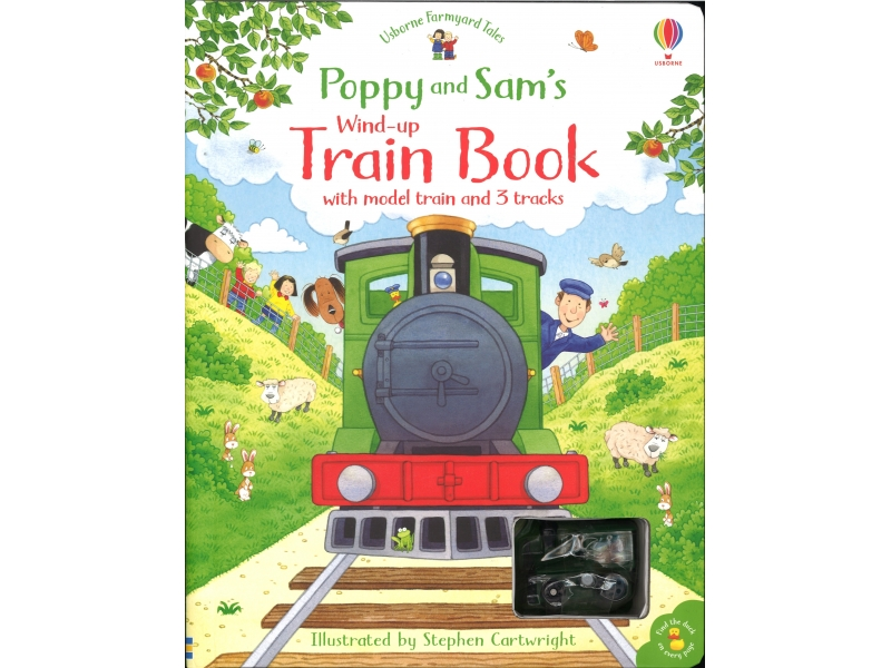 Poppy And Sam's - Wind-Up Train Book - With Model Train And Three Tracks - Stephen Cartwright