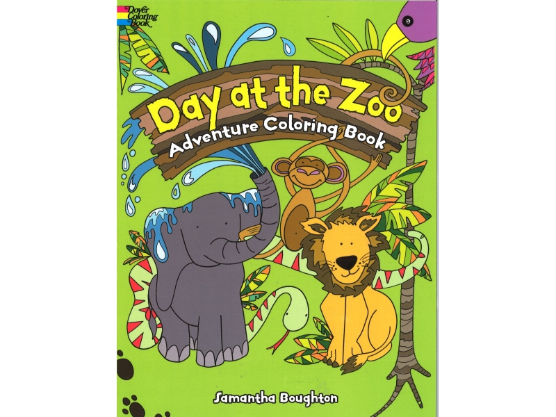 Day At The Zoo - Adventure Colouring Book