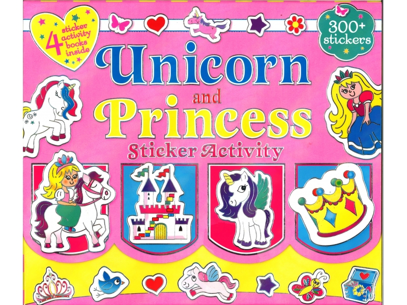 Unicorn And Princess - Stickers Activity