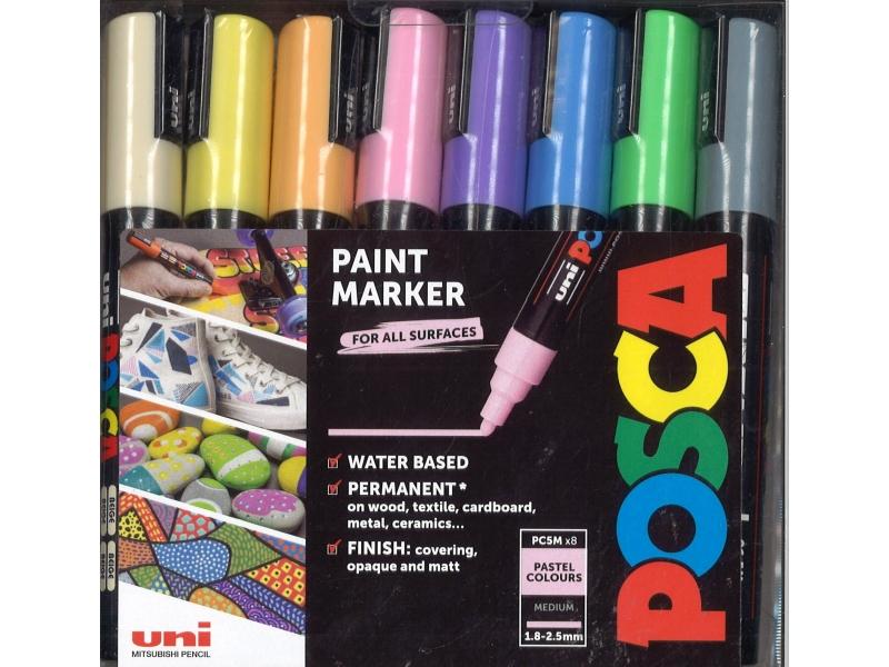 Posca Paint Marker - Pastel Colours - 12 Pack
