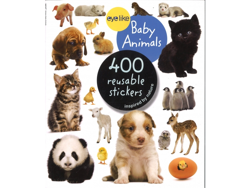 400 Reusable Stickers - Baby Animals