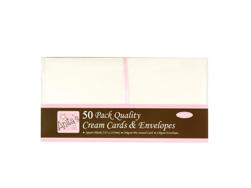 Anita's - Square Cards & Envelopes Cream 50pk