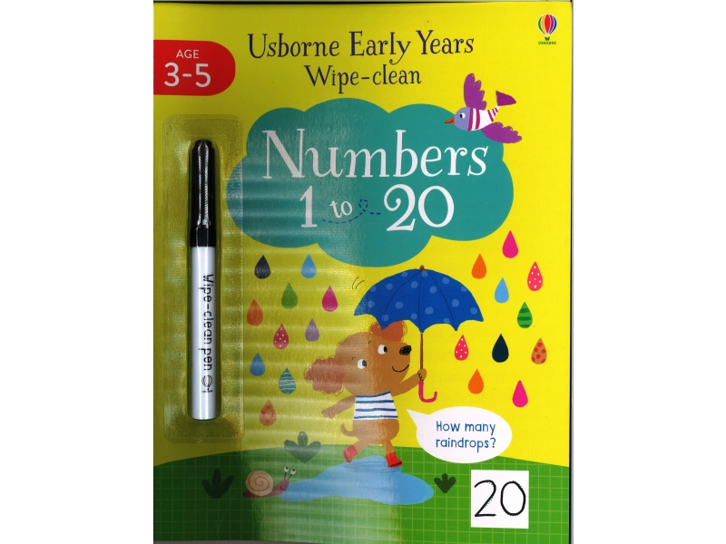 Early Years Wipe Clean - Numbers 1 To 20
