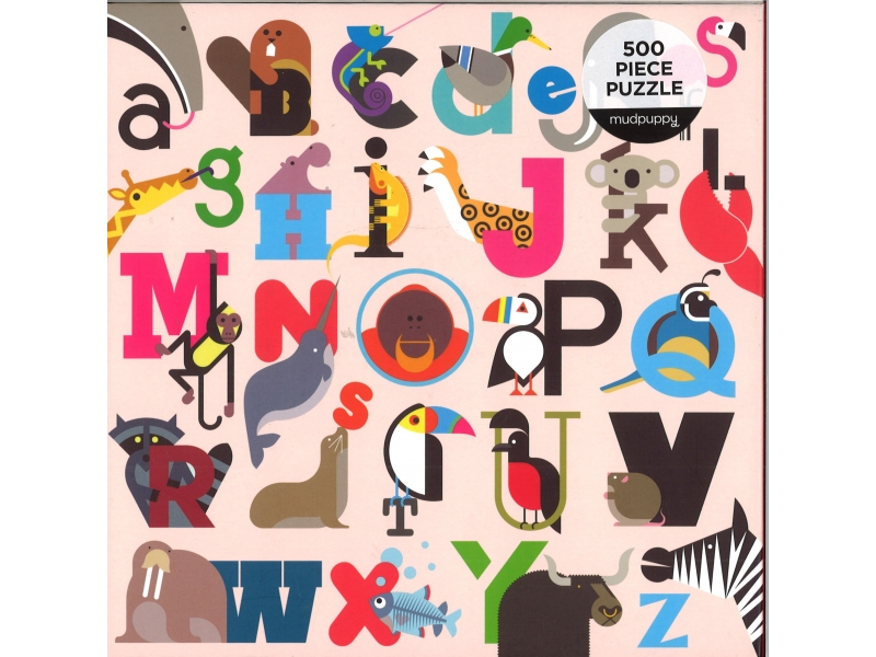 Animals A-Z - 500 Piece Jigsaw