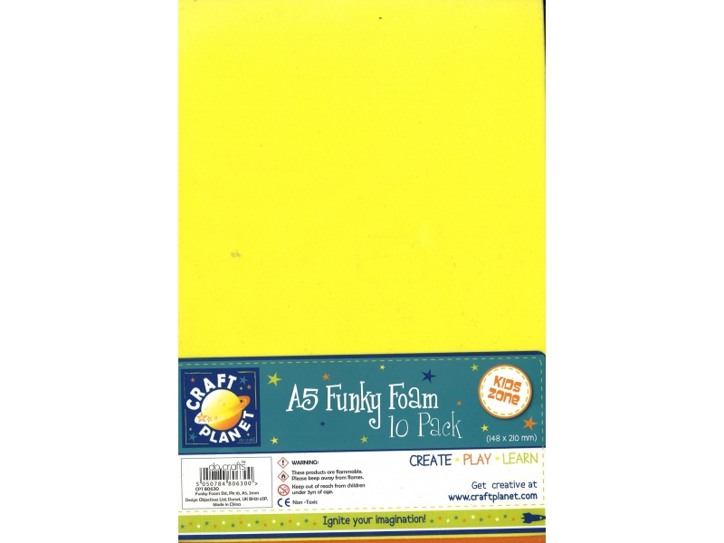 Foam A5 10 Pack Assorted Colours