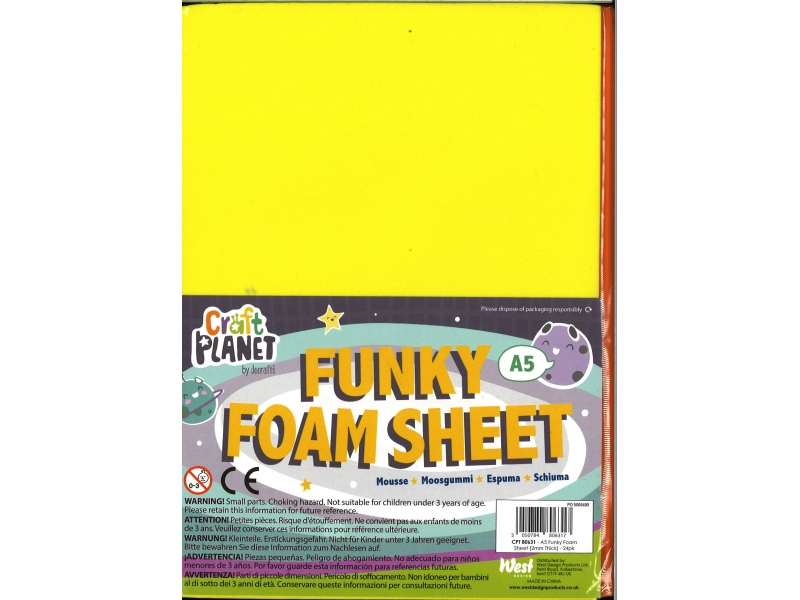 Foam A5 24 Pack Assorted Colours