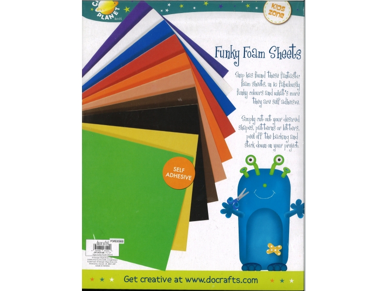 Foam A4 10 Pack Assorted Colours