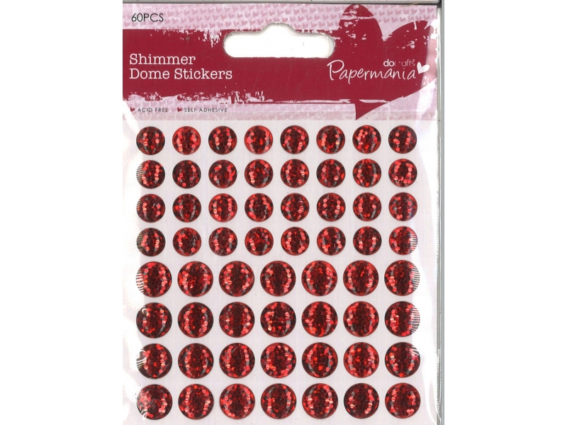 Shimmer Dome Red 60 Pieces