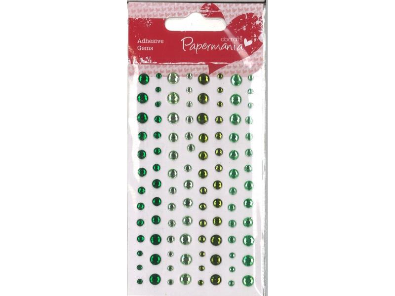 Adhesive Stones Capsule Verde 104 Pieces