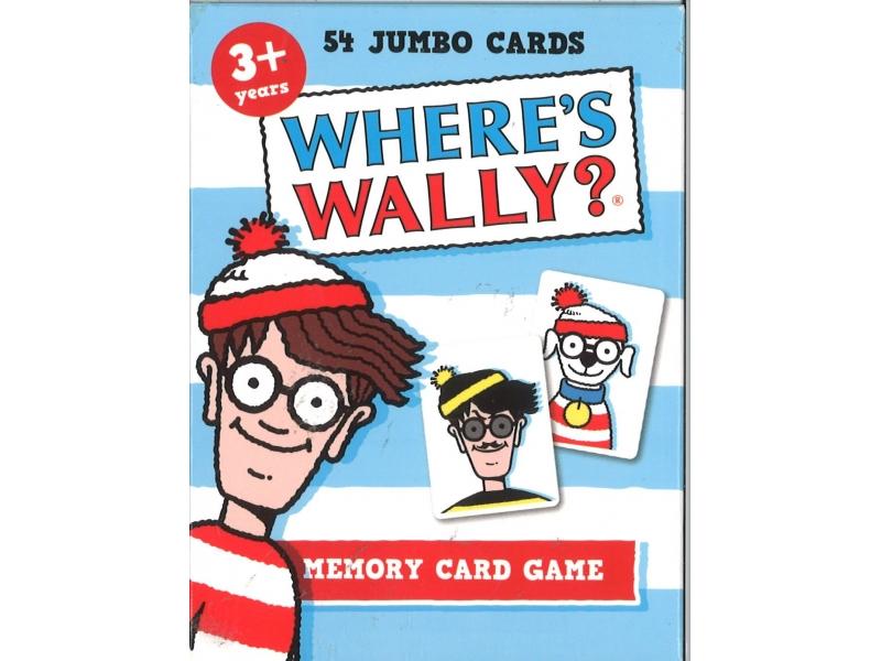 54 Jumbo Cards Where's Wally ? - Memory Card Game
