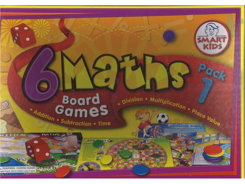 6 Maths Board Games Pack 1 - Smart Kids