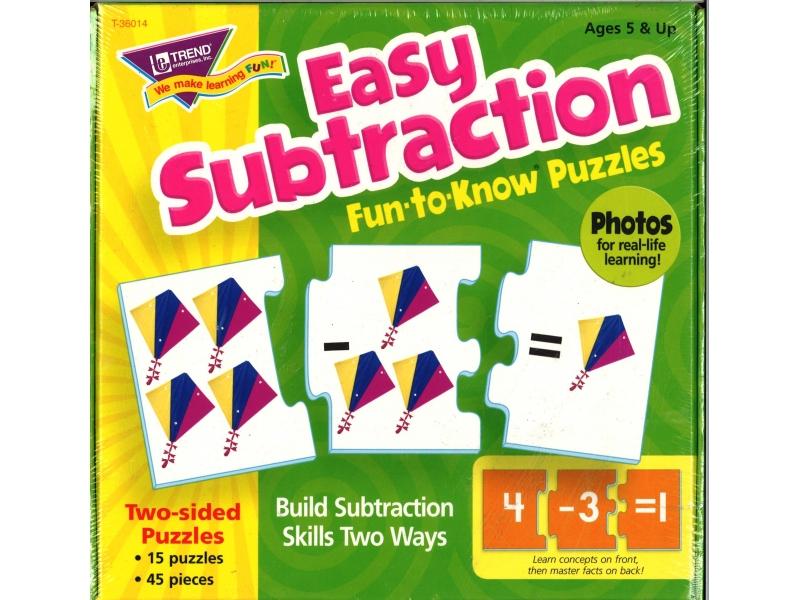 Easy Subtraction - Jigsaw