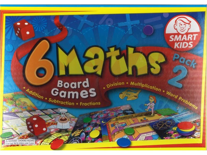 6 Maths Board Games  Pack 2 - Smart Kids